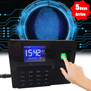 Color Screen Biometric Fingerprint Attendance Time Clock With Id Card Reader