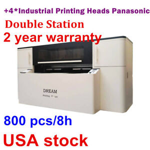 Double Station Direct To Garment Printer Industrial Printing Heads Panasonic