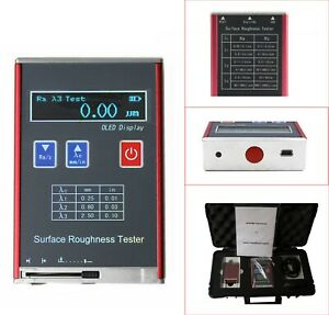 Digital Surface Roughness Tester Ra Rz Rq Rt Profile Gauge Measuring Instrument
