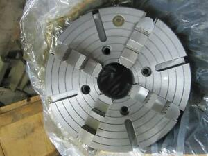 Bison 4304 400 15 3 4 4 Jaw Plain Back Lathe Chuck New