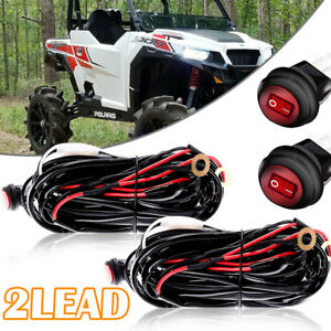 Remote Control Wiring Harness Strobe Switch Relay Led Light Bar For Rzr