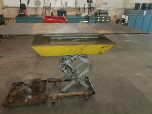 American Lifts Hydraulic Lift Table 30x72 Lifts 54 1 2 High