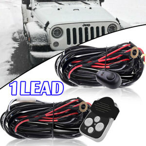 Remote Control Wiring Harness Strobe Switch Relay Light Bar For Jeep Wrangler