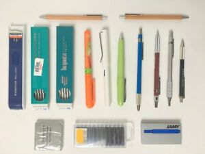 Lot 15 Pens Mechanical Pencils Lead Holders Lamy Koh i noor Ohto Staedtler