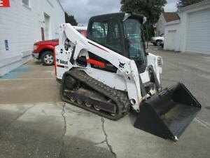 2015 Bobcat T650 Skid Steer Loader Erops Heat ac 74 Hp Doosan High Flow Hyd