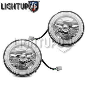 Universal 7 Headlights Left Right Pair W O Bracket Muliple Color Led Halo
