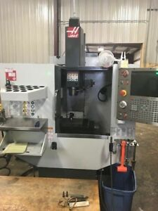 Used 2016 Haas Mini Mill Cnc Vertical Machining Center Rigid Tap Wips Probe Ct40