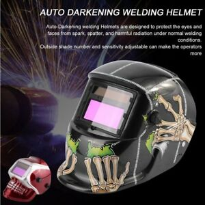 Auto Darkening Welding Helmet Mask Welders Grinding Function Solar Power Um