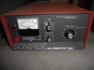 Branson Sonic Power Co Sonifier Cell Disruptor 350 Professionally Owned Tested