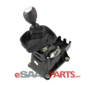 Genuine Saab 9 3 6 Speed Shifter Assembly Leather Manual New Oem 55567139