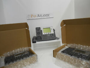 Lot 11 cisco Cp 7941g Voip Business Phone Handset cord stands C