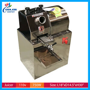 Electric Sugar Cane Press Juicer Juice Machine Commercial Extractor Mill 110v