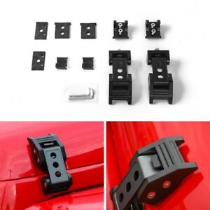 For Jeep Wrangler Jk Unlimited Parts Black Hood Latch Locking Catch Buckle New