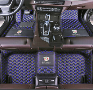 Car Floor Mats Waterproof logo Fit For Cadillac Cts Ats Ct6 Sts Xt5 Xts Leather