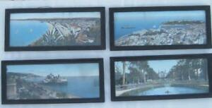 Lot Antique Vintage 1917 1918 France French Print Scenes Wood Wooden Frames