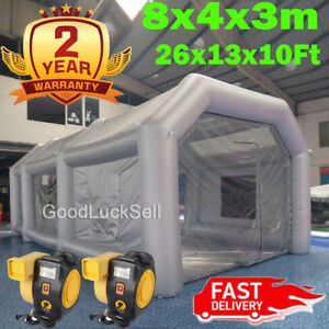 26ft Inflatable Paint Tent Spray Paint Booth Giant Car Workstation Fan Spray Usa