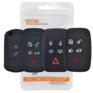 Silicone Key Case Fob Cover For Range Rover Sport Vouge Discovery Freelander