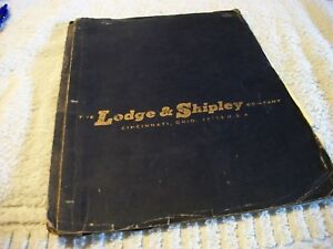 Lodge Shipley Model A Lathe Manual Original Free Shipping