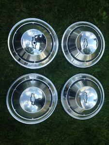 Chevy Truck Dog Dish Hubcaps 1 2 Ton