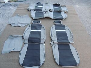 Leather Seat Covers Interior Upholstery Fits Toyota Camry 2012 2014 Grey J102
