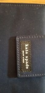 Kate Spade Vintage Navy Blue Nylon Small 6 Ring Binder Planner Agenda 2000 2001