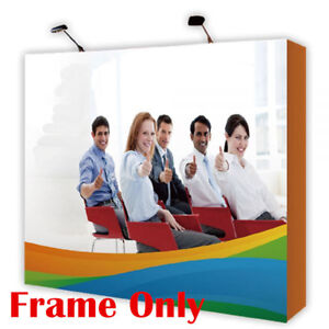 Us 10ft Tension Fabric Pop Up Display Backdrop Stand Trade Show Exhibition Booth