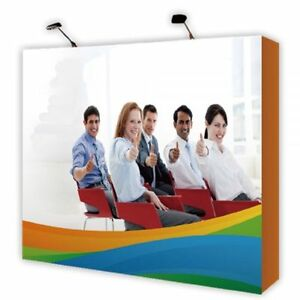 Us 10ft Tension Fabric Pop Up Display Backdrop Stand Trade Show Graphic Included