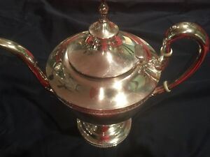 Vintage Antique Pairpoint 4x Silverplate Teapot