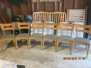 Heywood Wakefield Dogbone Dining Chairs M 154 A Lot Of 6