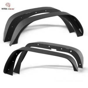 Yitamotor Fender Flares For 2007 2018 Jeep Wrangler Jk Flat Style Solid Steel