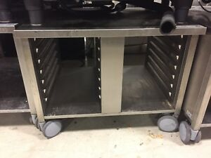 Demo Rational Ug Ii 61 101 Mobile Enclosed Shelf Combi Oven Stand In W Casters