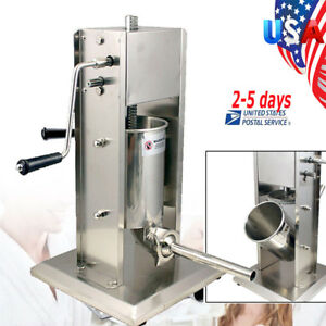 Sausage Stuffer Vertical Stainless Steel 5l 11lb 11 Pound Meat Filler Usa Ship