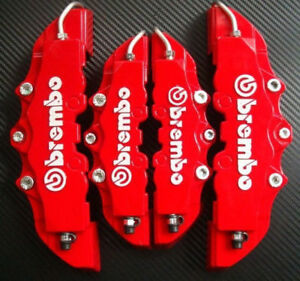 Fashion Disc Brake Caliper Covers Parts Front Rear 3d Car Truck Set Red