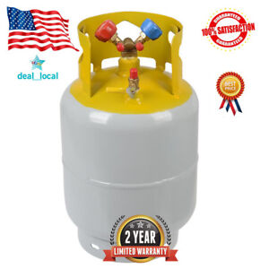 Refrigerant Recovery Reclaim 30lb Cylinder Tank 400 Psi R410a Rated