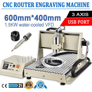 Usb Three 3axis 6040 1500w Cnc Router Engraver Engraving Milling Cutting Machine
