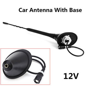 For Bmw Toyota Audi Dc12v Car Roof Radio Fm Antenna Aerial Amplifier Booster