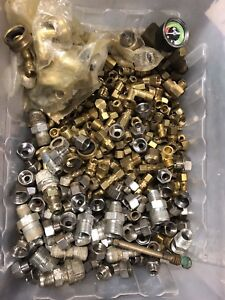 26lb Lot Brass Compression Fittings Various Components Pneumatic Pluming Hose