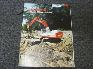 Link belt Ls 2800a Crawler Excavator Specifications Lifting Capacities Manual