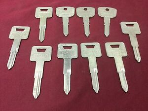 Subaru Honda By Curtis Automotive Sr6 Hd81 Key Blanks Set Of 10 Locksmith