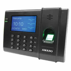 Amano Fpt 80 Time Guardian Fingerprint Complete Biometric Time Clock System