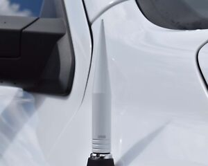 True Spike White 5 Billet Fat Spiked Am Fm Radio Antenna For Chevy Silverado