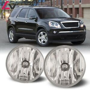 For Gmc Acadia 07 12 Clear Lens Pair Bumper Fog Light Lamp Oe Replacement Dot