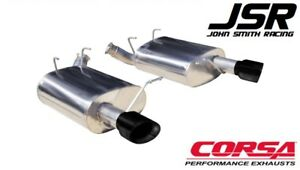 11 14 Mustang V6 3 7l Corsa 2 5 Sport Axle back Exhaust W Black Tips