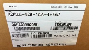 Abb Ach550 bcr 125a 4 f267 Enclosed Variable Frequency Drive 100hp New
