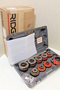 Ridgid Pipe Threader Set 12r Dies W Brand New Case 100 Tested