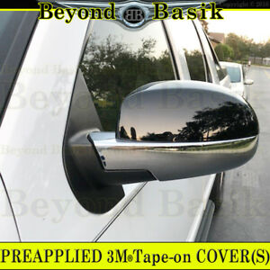 2007 08 09 10 11 12 2013 Chevy Silverado 1500 Black chrome Mirror Covers Overlay