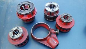 5 Pc Lot Ridgid 12r R12 Pipethreading Dies Die Drop Head