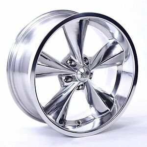Boyds Junk Yard Dog Wheels Polish 17x7 17x8 Suit Older Chevy S With Tires Lugs
