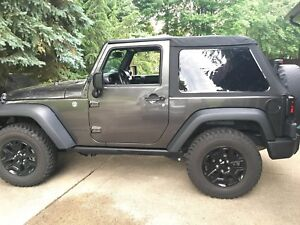 Jeep Wrangler 2 Door Jk Softtopper Frameless Soft Top W hardware Tinted Windows
