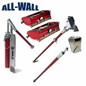 Drywall Finishing Tools Flat Box Set 10 12 W Handle 3 Nail Spotter Level 5